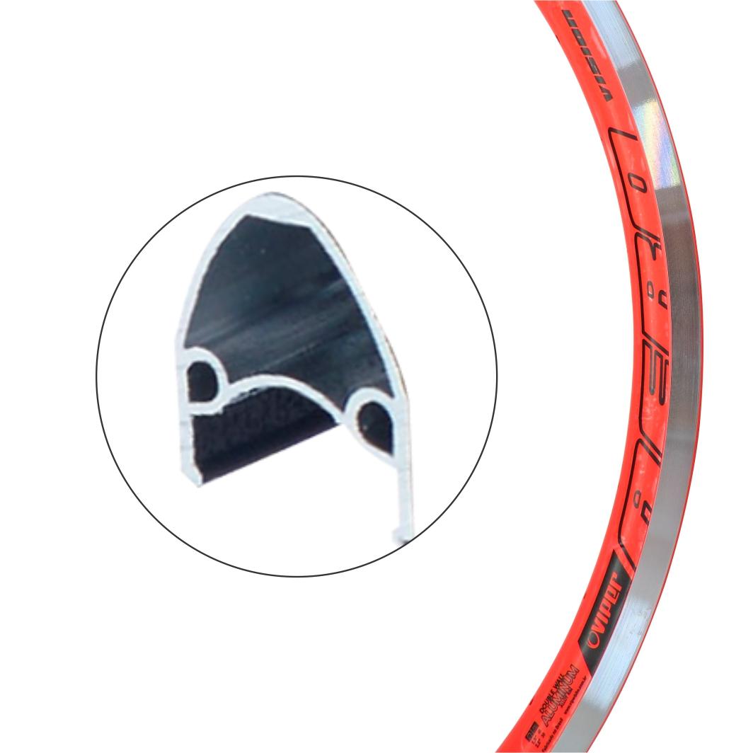 Aro Aluminio 24 Vision Neon Laranja