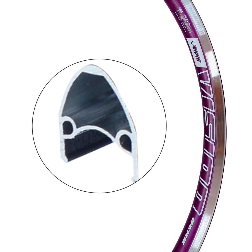 Aro Aluminio 26x1.1/2 Vision Lilas