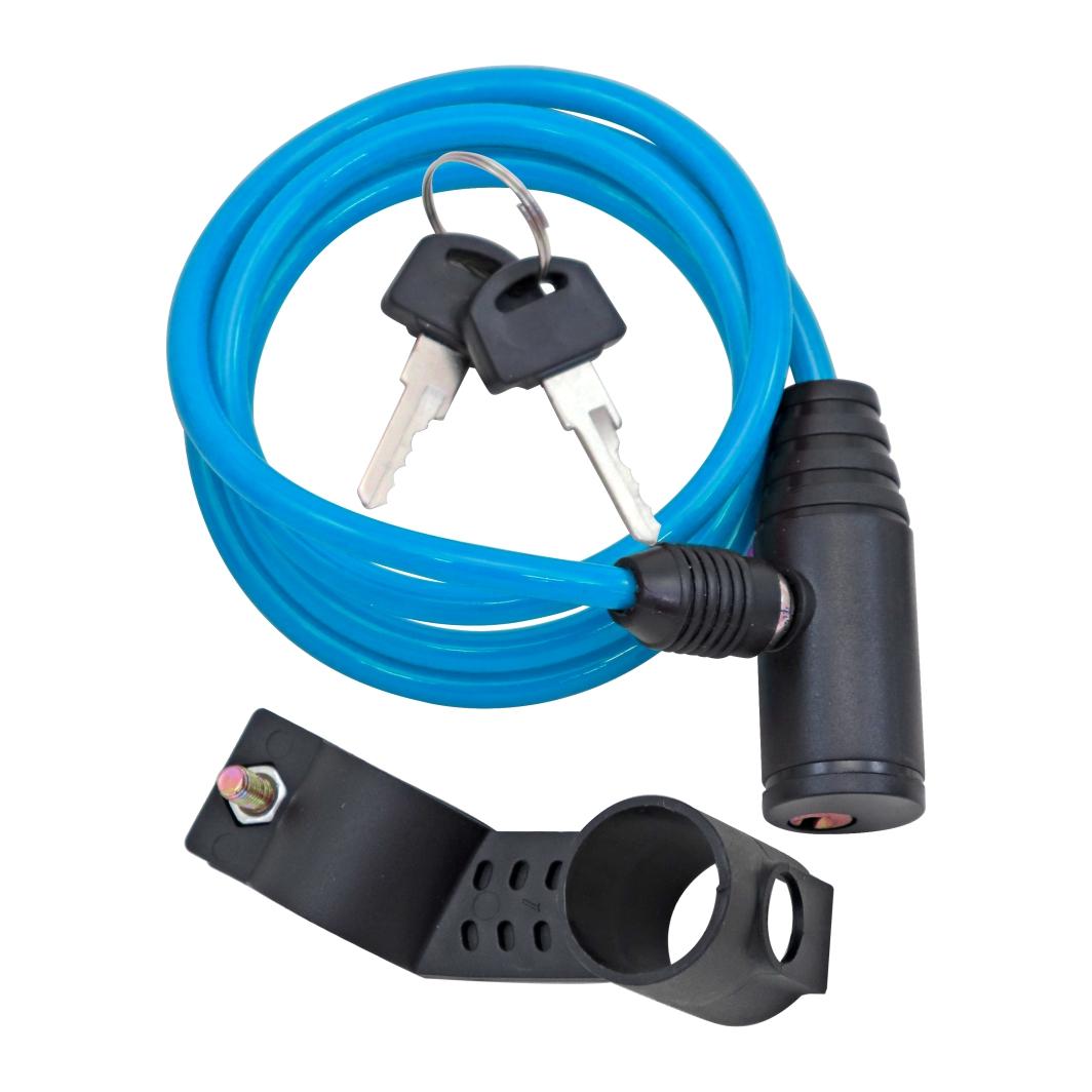 Cadeado Espiral 6x1000mm Neon Azul