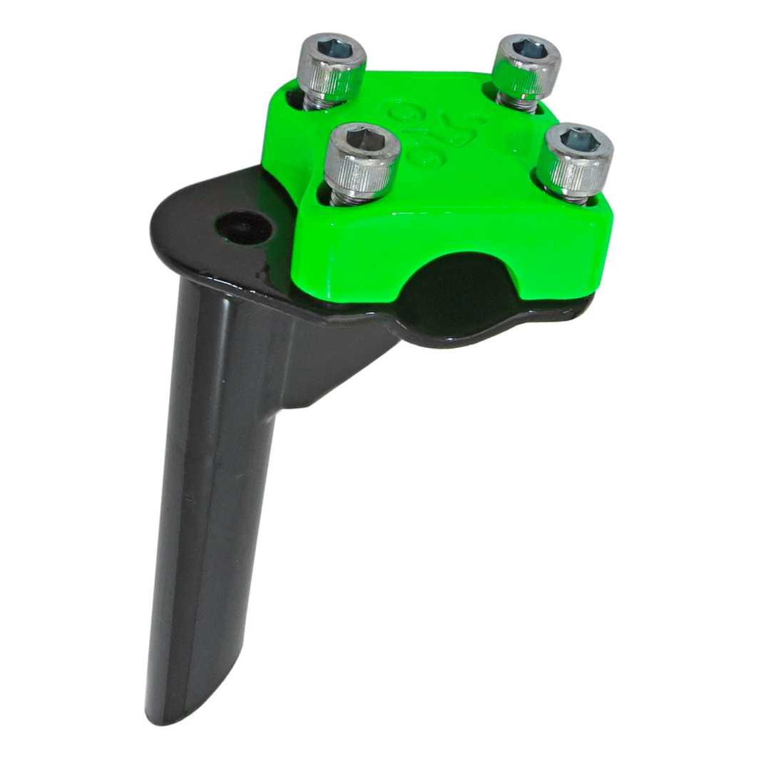 Suporte Guidão Aluminio Aço 4 Parafuso BMX Top-Neon Verde