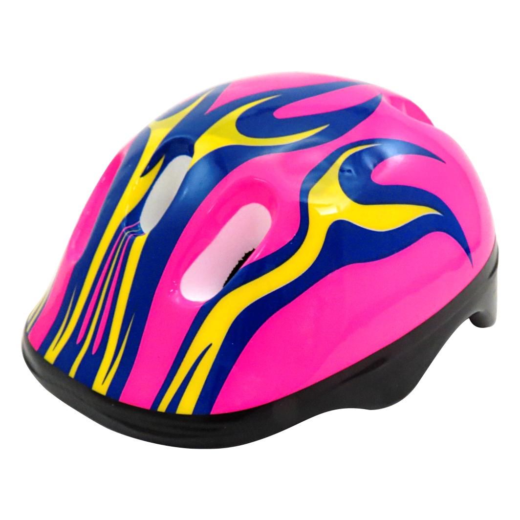 Capacete P/Ciclista Infantil Fogo Rosa