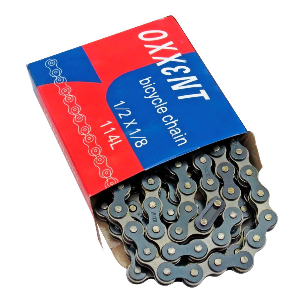 Corrente 1/2X1/8 Preto/Cinza 114 Elos 1.1mm QD