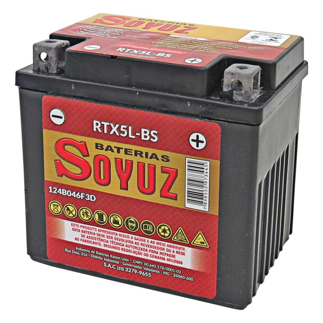 Bateria RTX5L-BS 12V 5AH TITAN 125 ESD/NXR