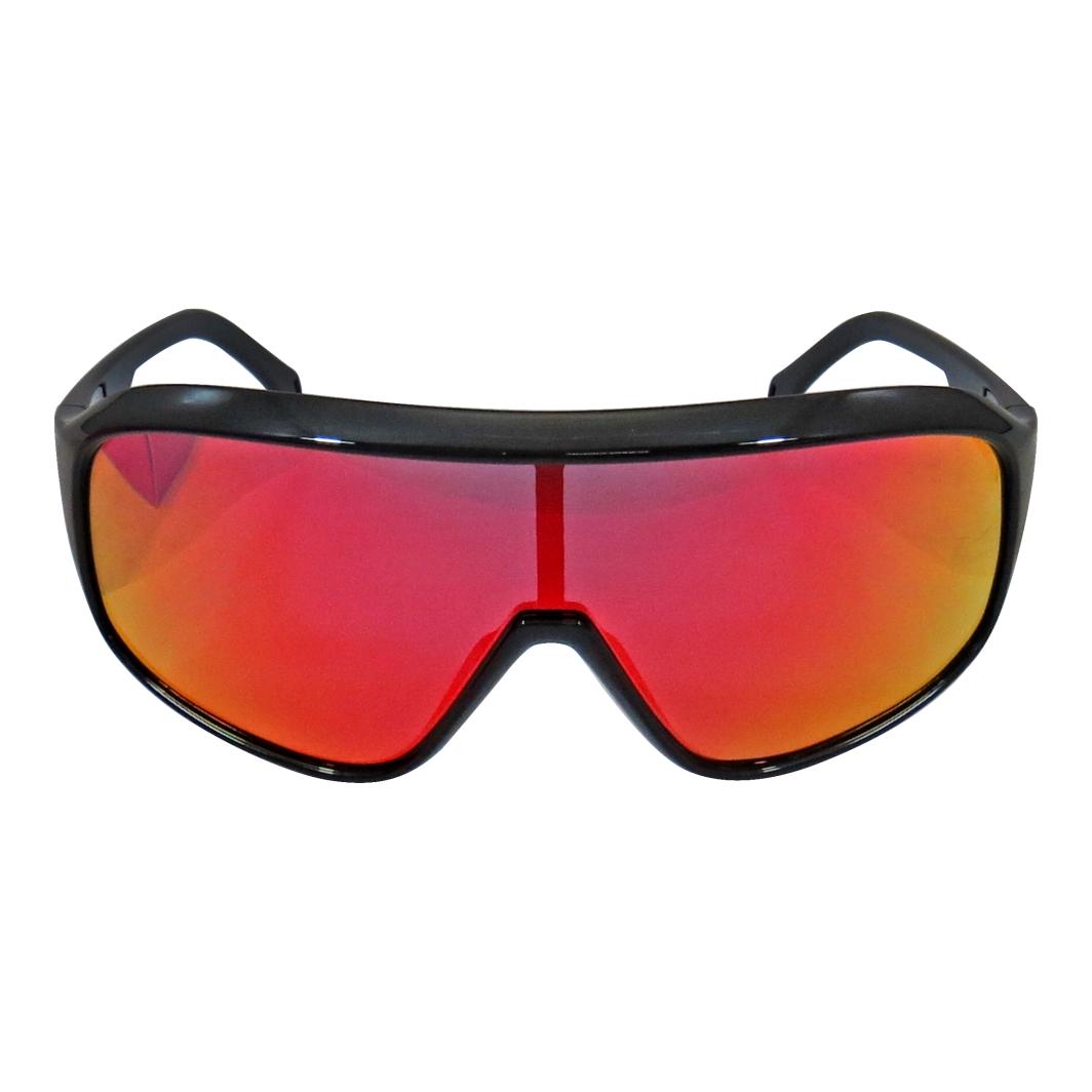 Oculos ABS Nero Preto Lente Vermelha