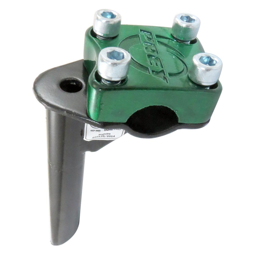 Suporte Guidão Aluminio Aço 4Parafuso BMX;TOP Verde