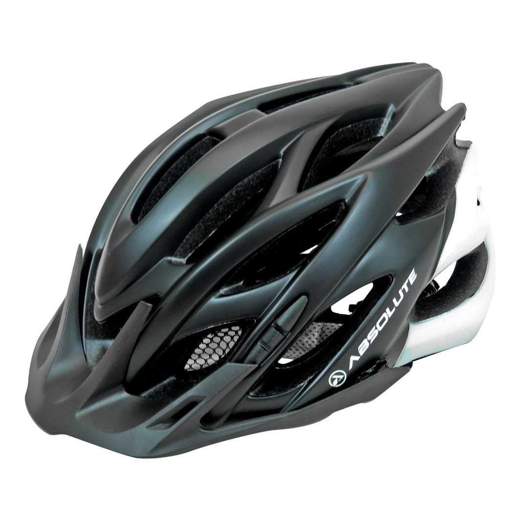 Capacete P/Ciclista Wild Preto/Branco Fosco C/Led