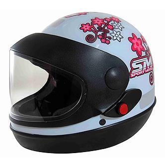 Capacete Sport Moto For Girls Tam.56 Branco PRO TORK
