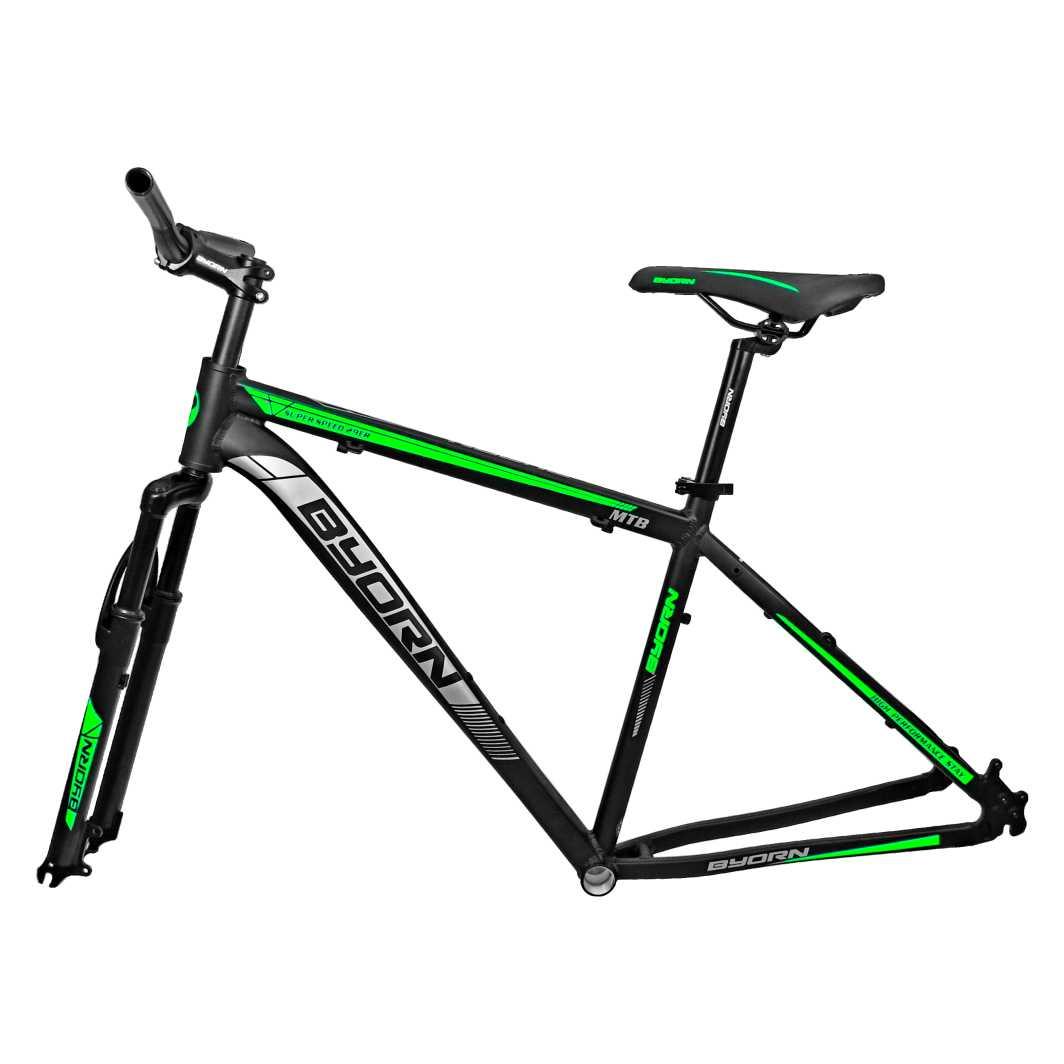 Quadro 29 Aluminio+Peças 17 Preto Fosco C/Neon Verde