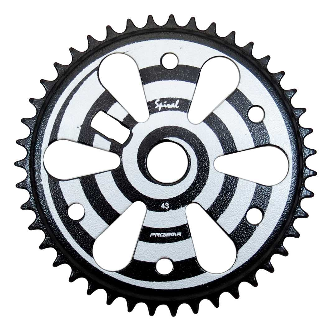Engrenagem 43D Spiral Preto/Prata