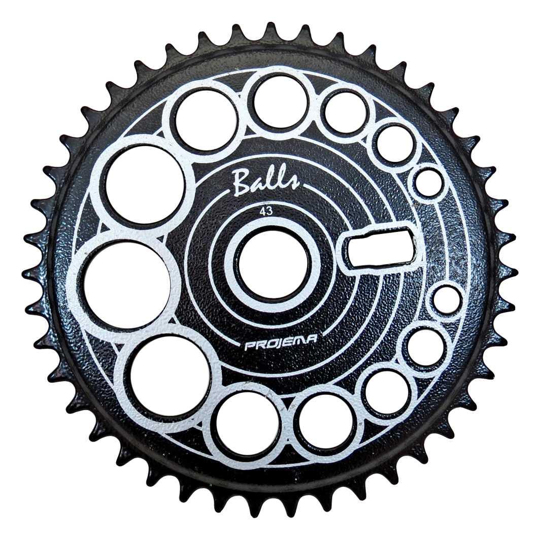 Engrenagem 43D Balls Preta/Prata