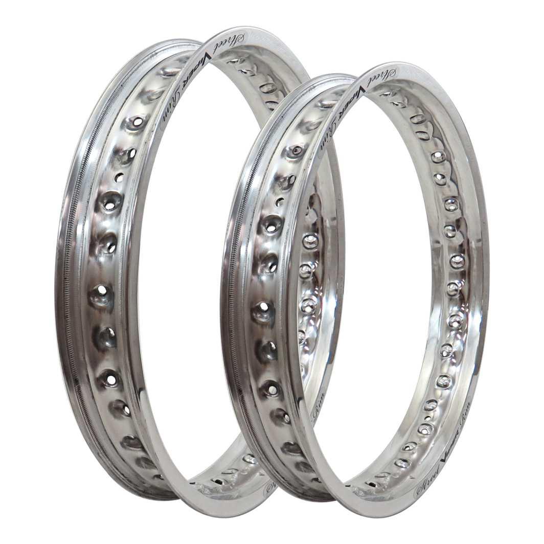 Aro Aluminio Dianteiro/Traseiro 185X18/215X18 Street Prata