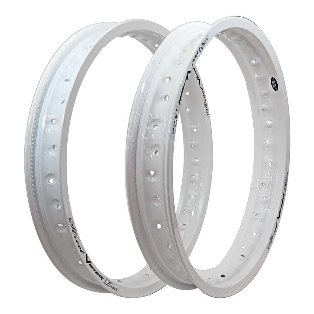 Aro Aluminio Dianteiro/Traseiro 185X18/215X18 Street Branco