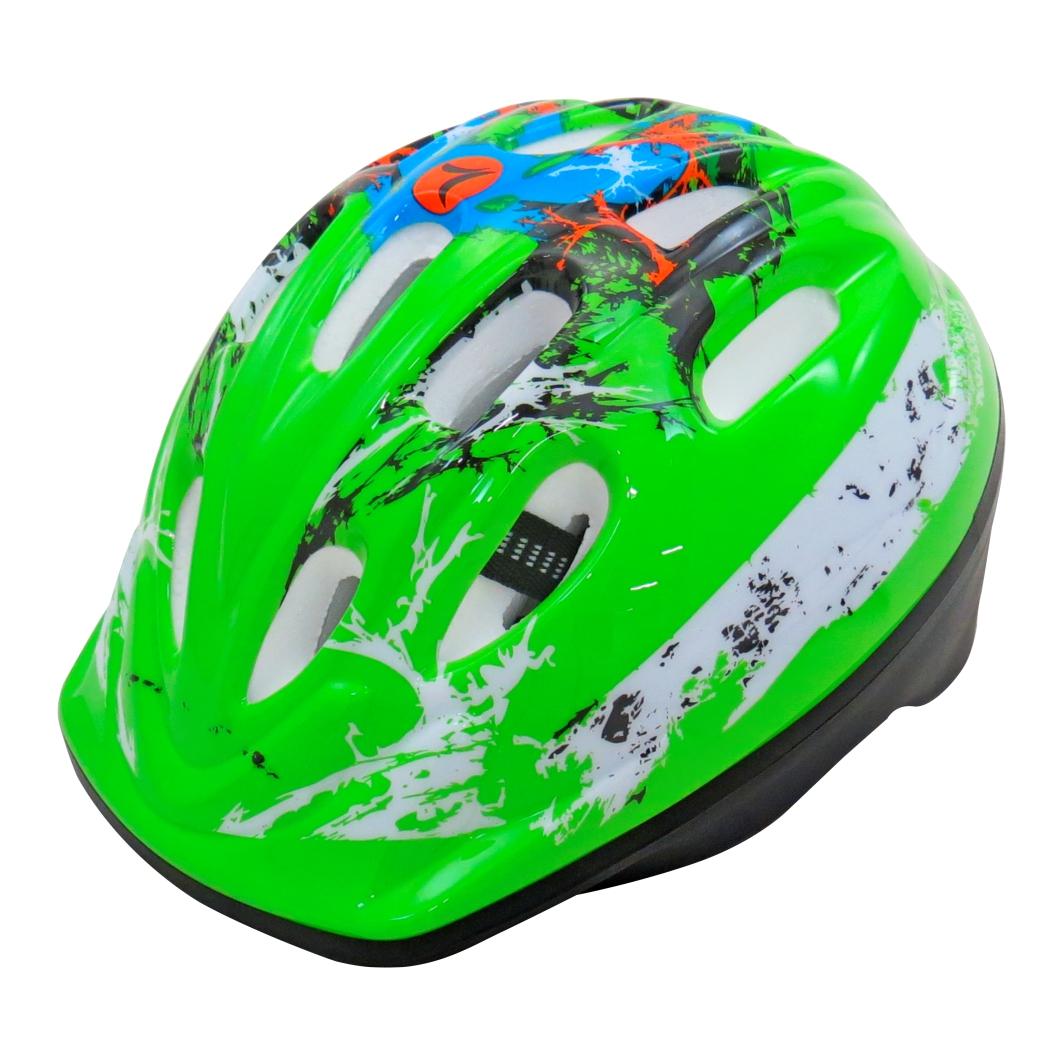 Capacete P/ciclista Infantil Verde C/Led