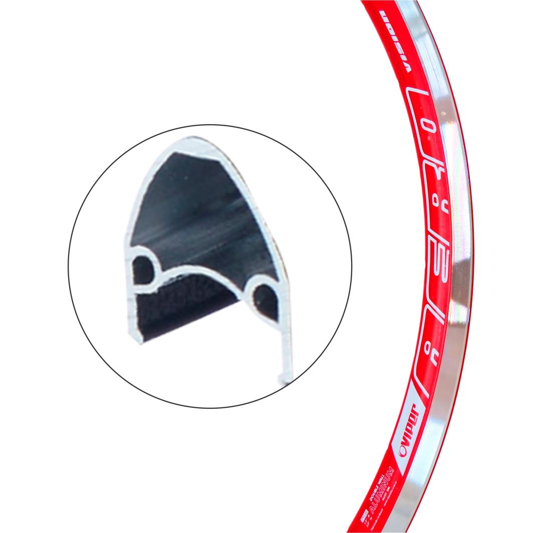 Aro Aluminio 26x1.1/2 Vision Vermelho