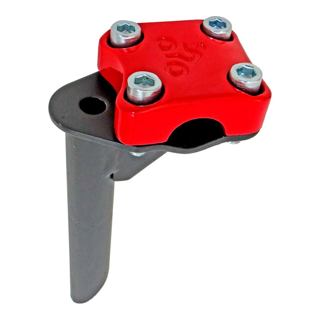 Suporte Guidão Aluminio Aço 4 Parafuso BMX Top Vermelho Ferrari