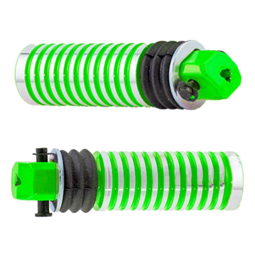 Pedaleira Traseira Alumínio Neon Verde