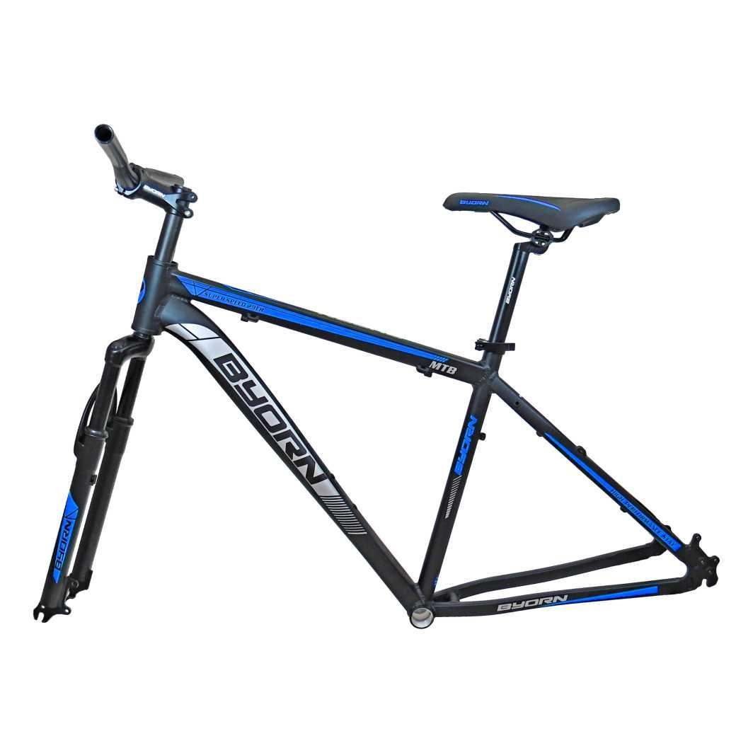Quadro 29 Aluminio + Peças 19 Preto Fosco C/Azul