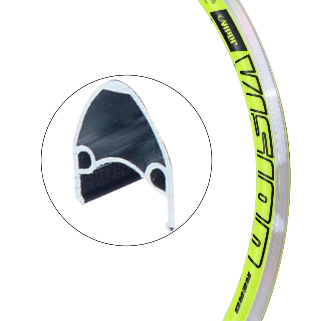 Aro Aluminio 24 Vision Neon Amarelo