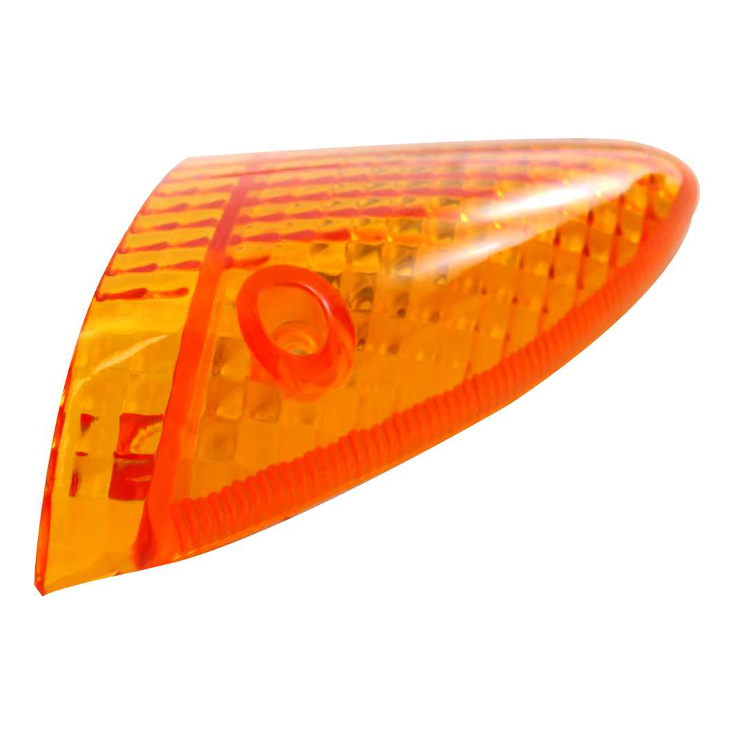 Lente Pisca BIZ 100 Dianteira Esquerda Amarela