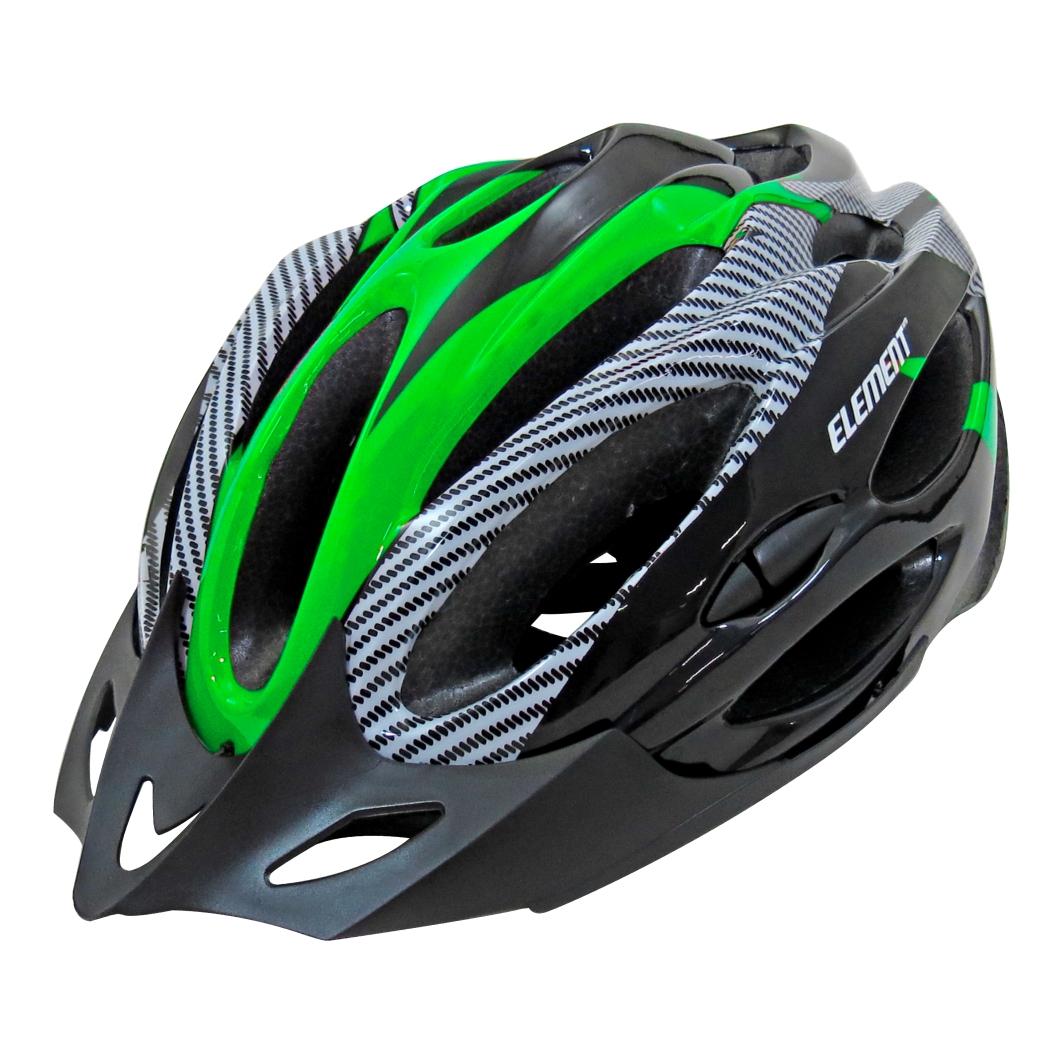 Capacete P/Ciclistag Preto Branco/Neon Verde