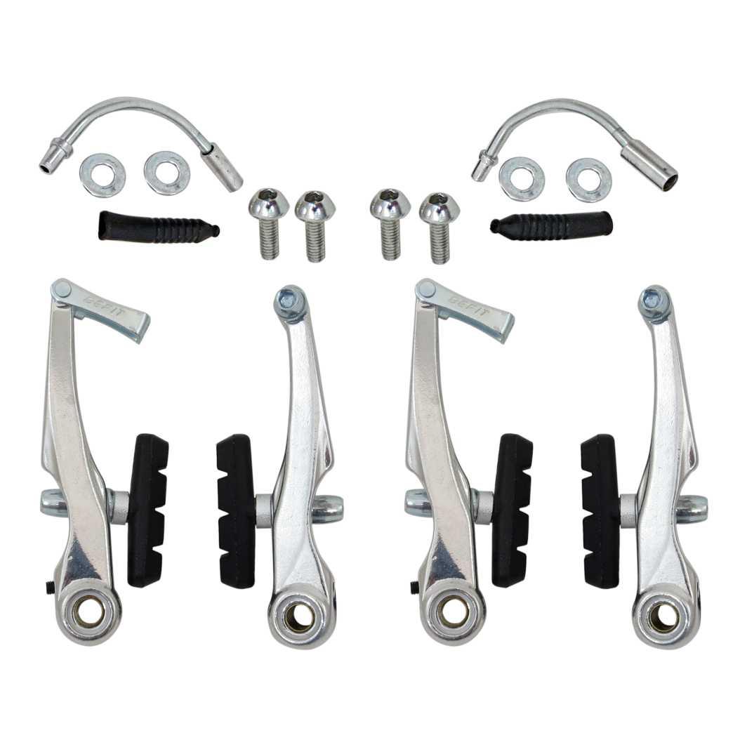 Freio V Brake Aluminio Prata Ajustavel
