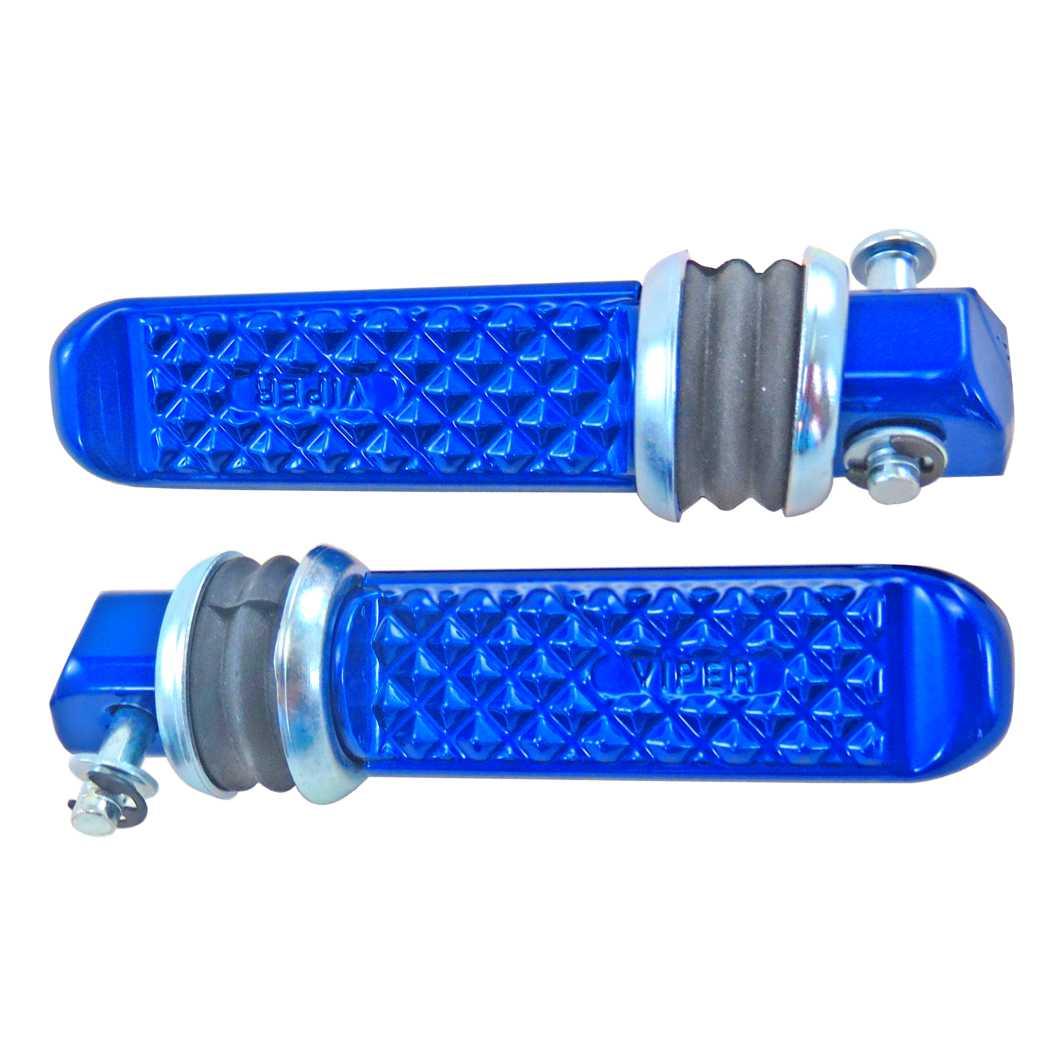 Pedaleira Traseira Alumínio TITAN 125 0-4 Azul