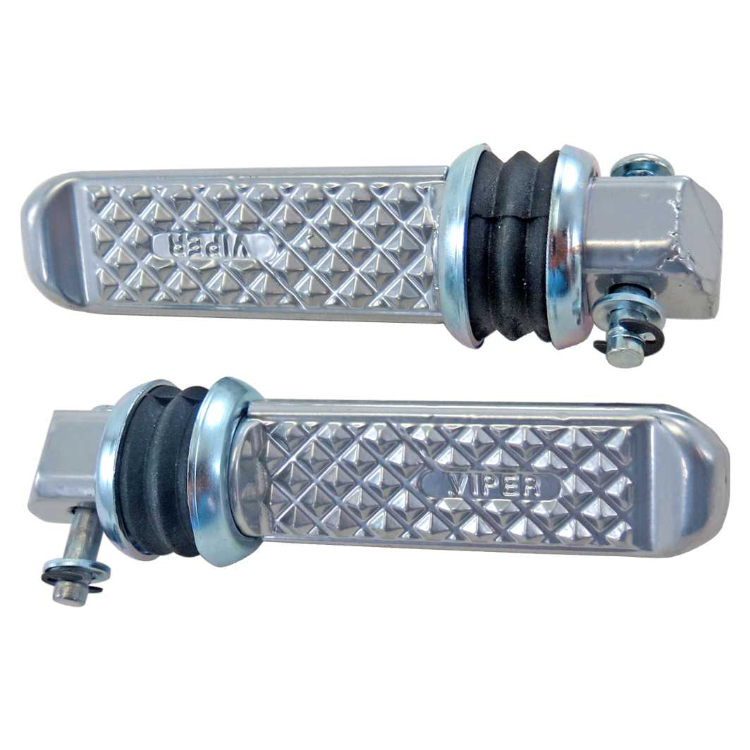 Pedaleira Traseira Aluminio TITAN 125 0-4 Polida