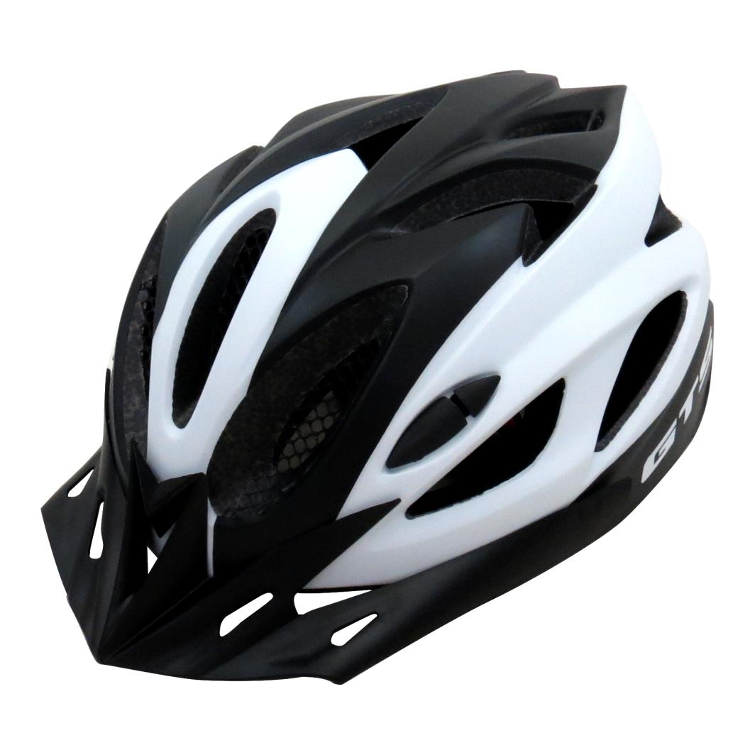 Capacete P/ Ciclista V M Preto/Branco Fosco