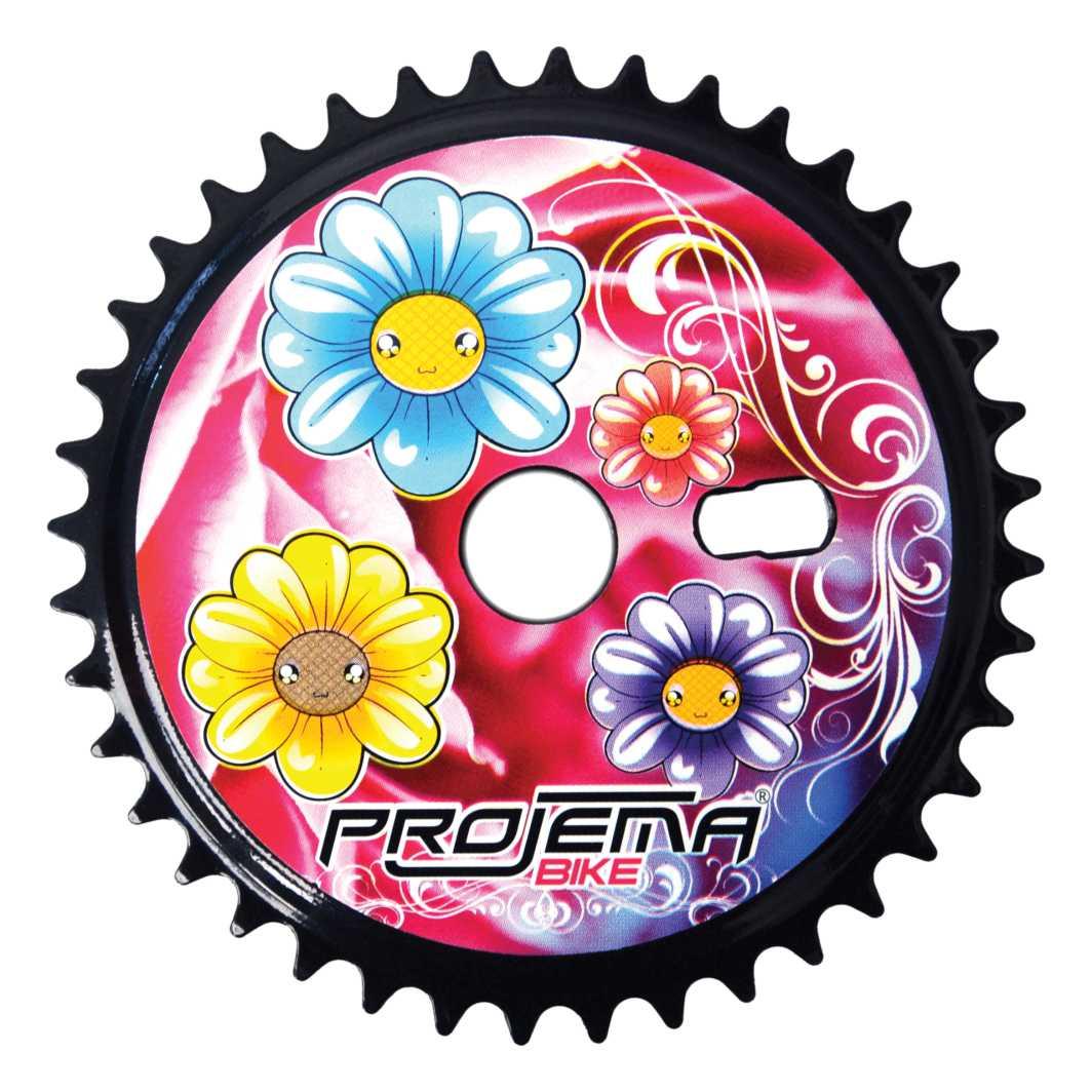 Engrenagem 40D c/Adesivo Flores
