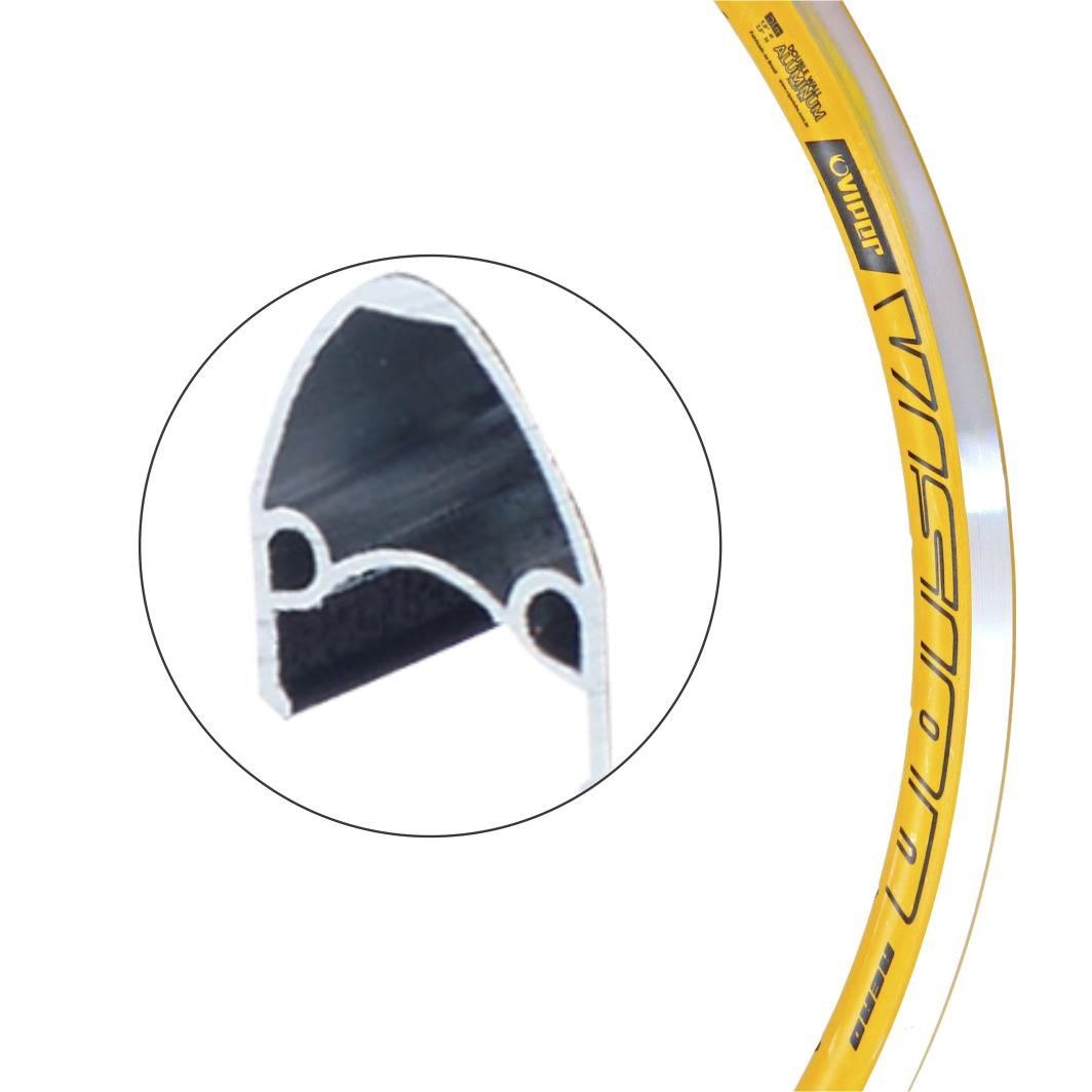 Aro Alumino 20 Vision Amarela