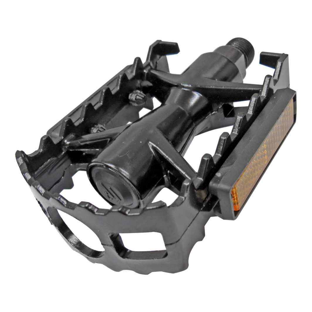 Pedal c/Esfera Ingles Aluminio MTB Preto FP-961
