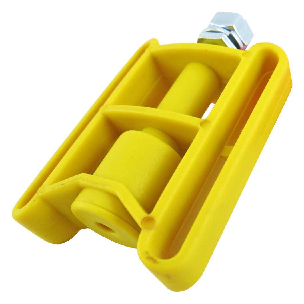 Pedal Plastico Infantil Amarelo C/Porca MD2