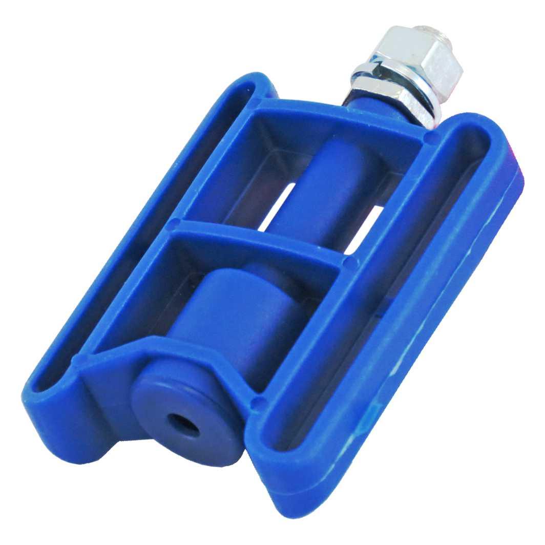 Pedal Plastico Infantil Azul C/Porca MD2