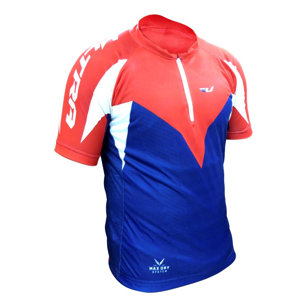 Camisa Max Dry Azul/Vermelha GG