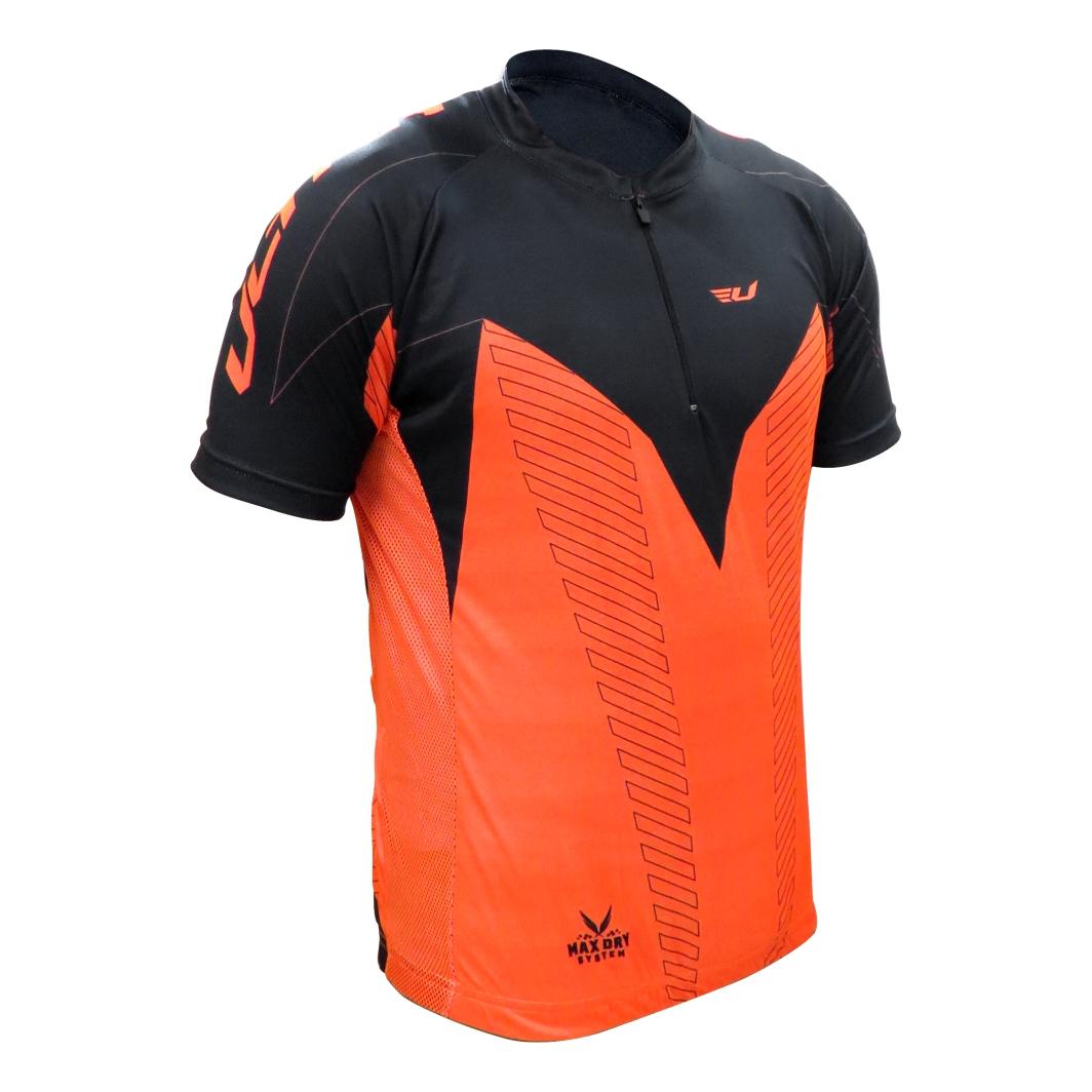 Camisa Max Dry Laranja/Preta GG