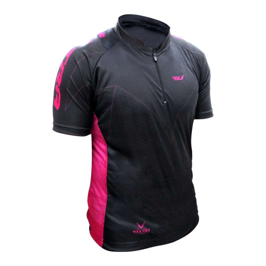 Camisa Max Dry Preta/Vinho G