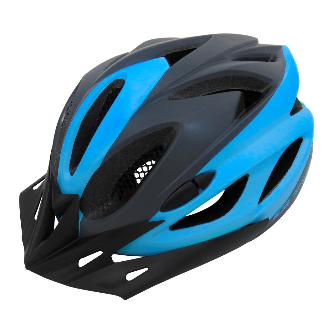 Capacete P/Ciclistav M Preto/Azul Fsc