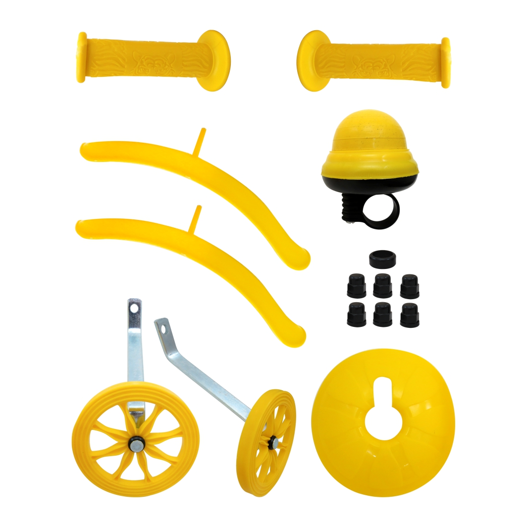 Kit 16 Acessórios Plásticos S/Roda Amarelo
