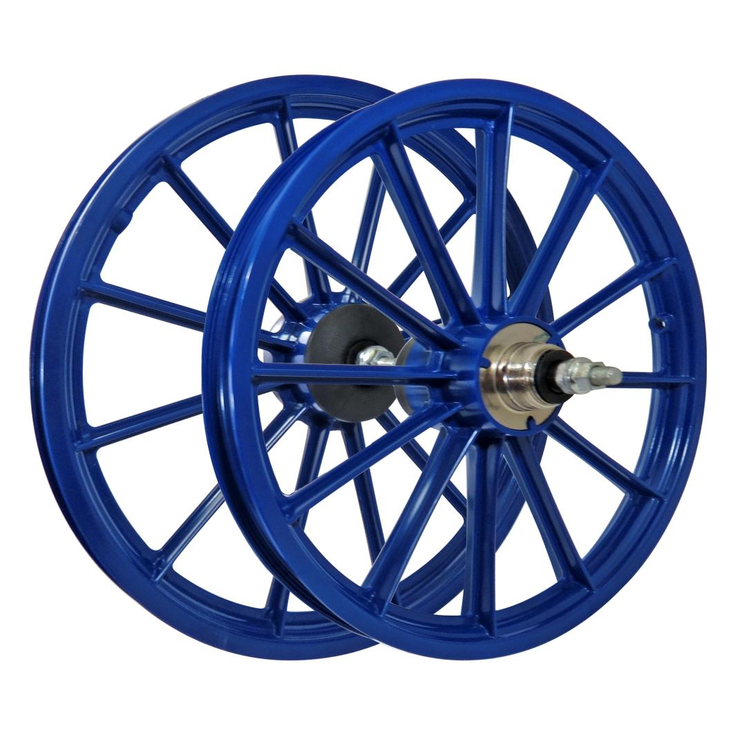 Roda 16 Nylon Raios c/Eixo Azul
