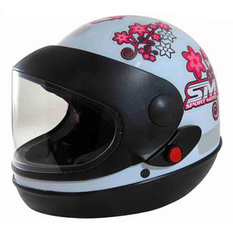 Capacete Sport Moto For Girls Tam.58 Branco
