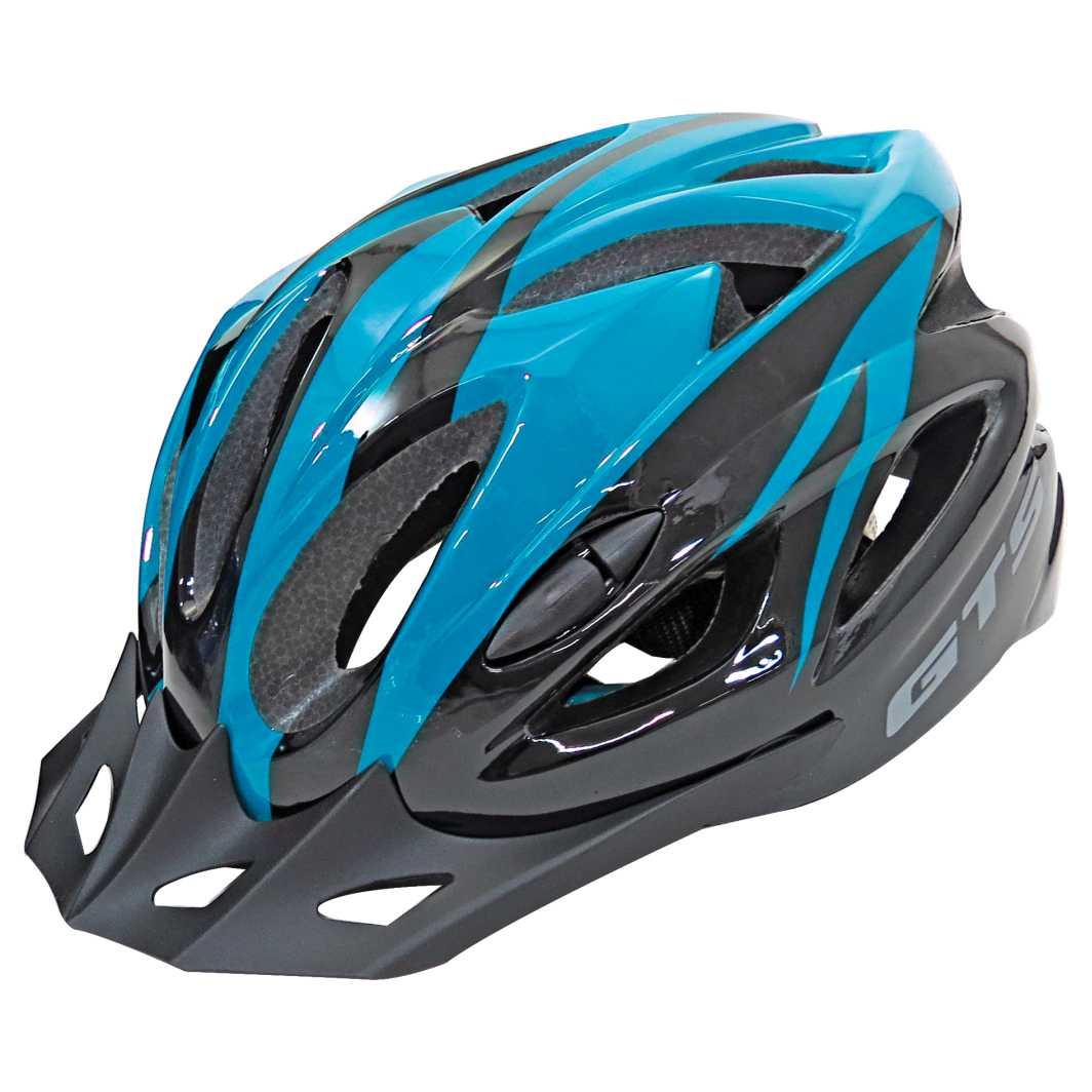 Capacete P/Ciclista WT12 M Azul Tiffany Brilhante Led