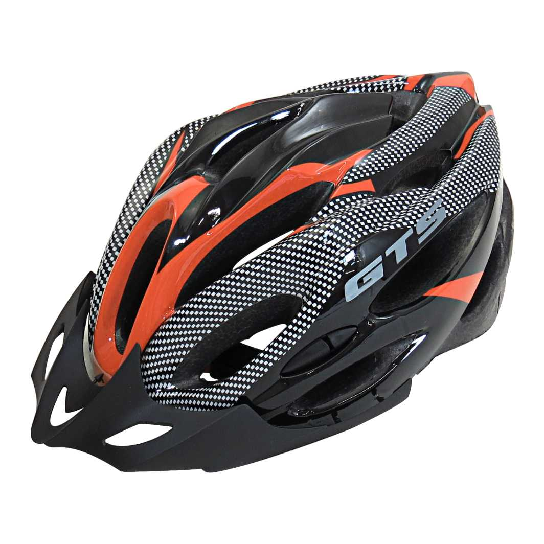 Capacete P/Ciclista WT32 G Laranja Led