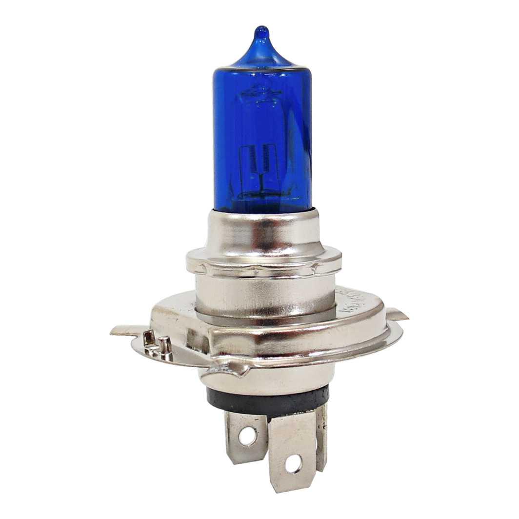 Lampada Farol H4 Dupla 12X35 CG/TITAN/YBR Azul