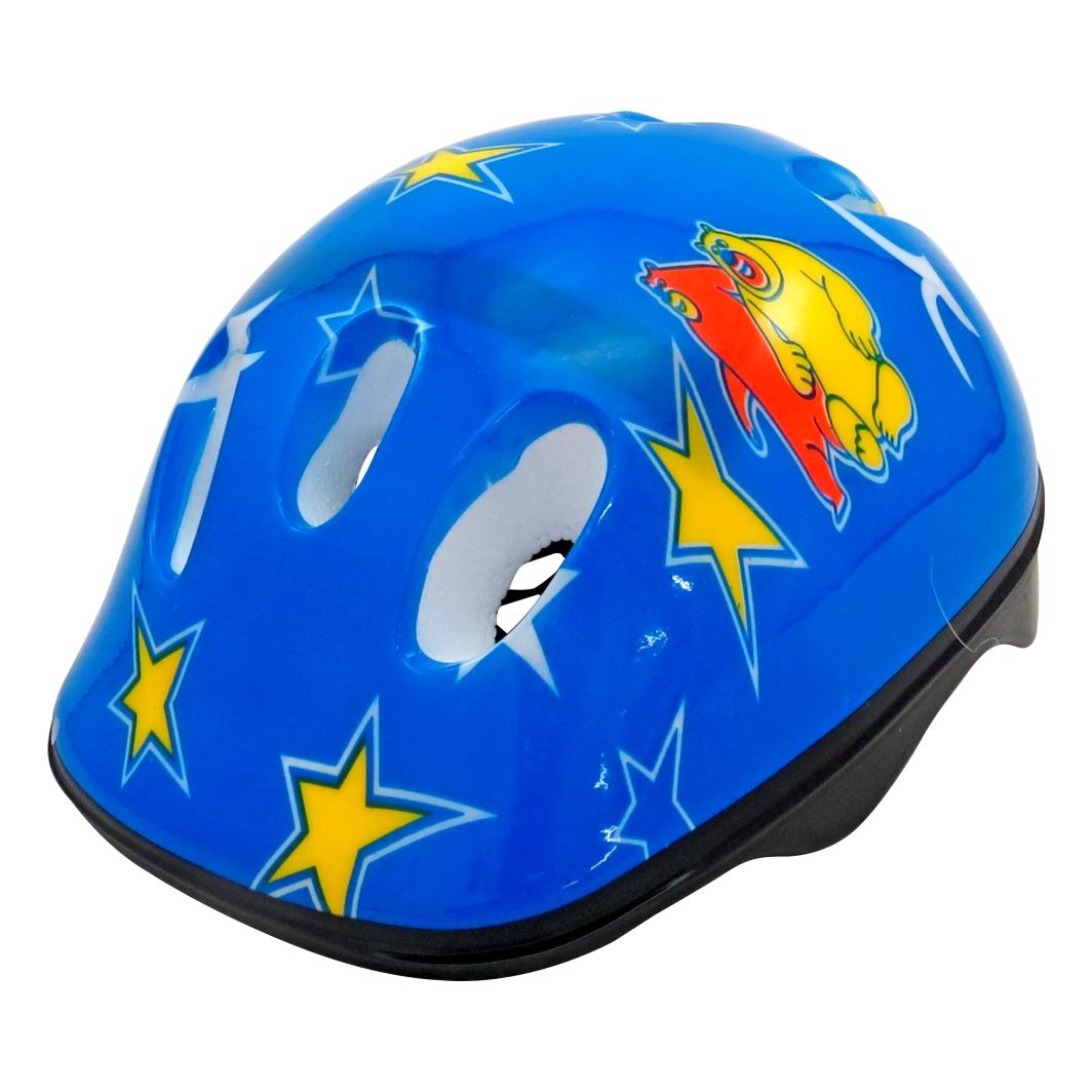 Capacete P/Ciclista Infantil Estrela Brilhante Azul