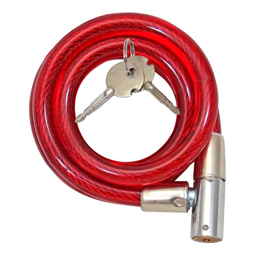 Cadeado Espiral 12x1000mm C/chave/tetra Vermelho