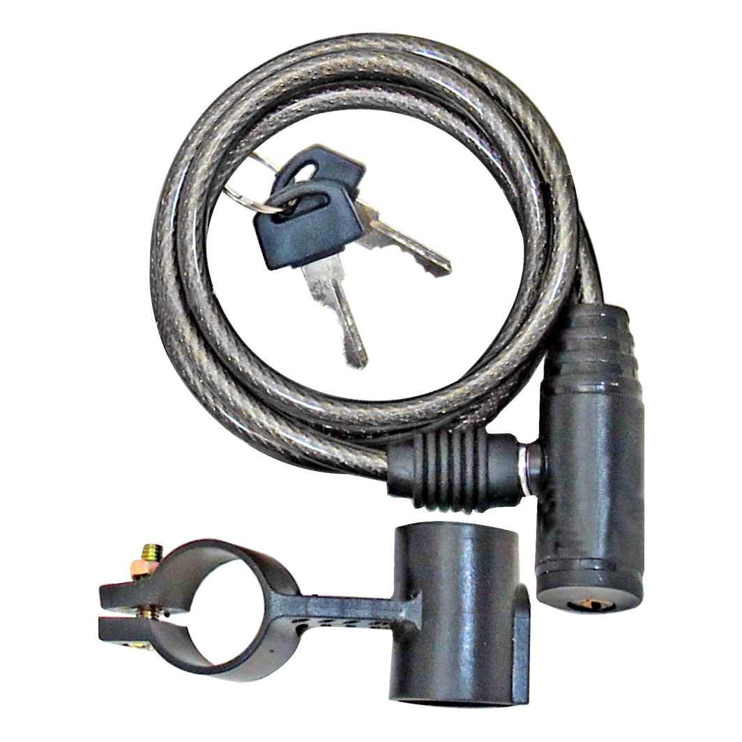 Cadeado Espiral 6x1000mm Preto C/Suporte