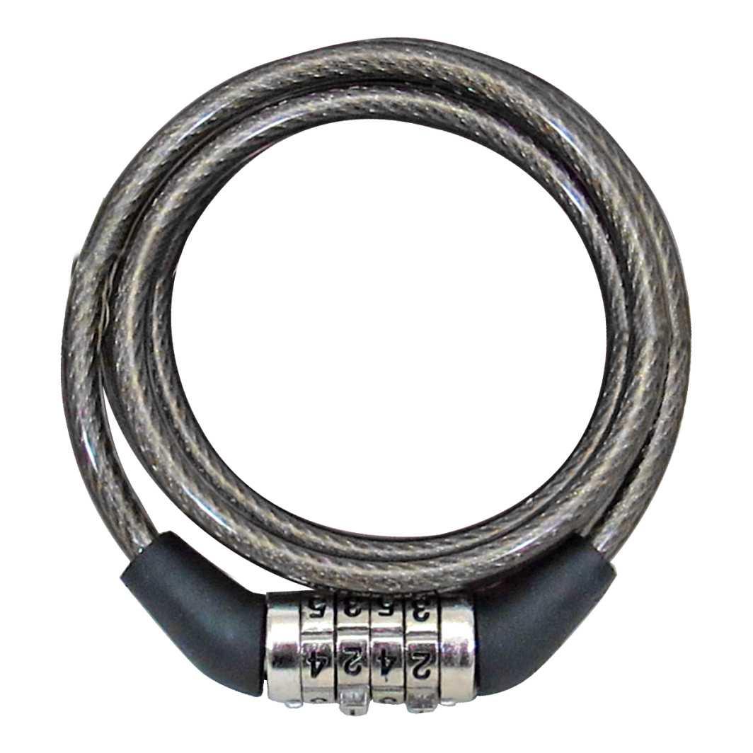 Cadeado Espiral 6x1000mm Segredo Fume