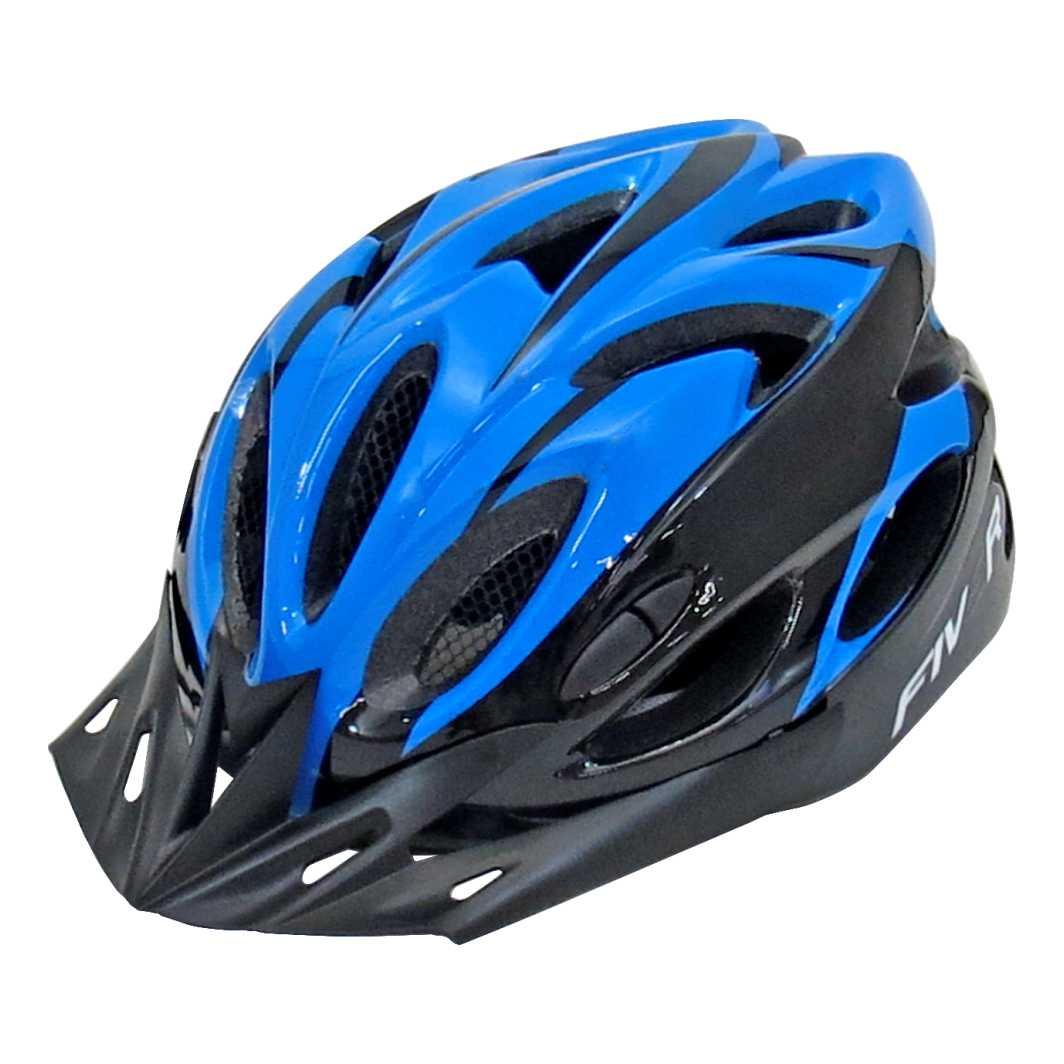 Capacete P/Ciclista FIVR Azul/Preto C/Led