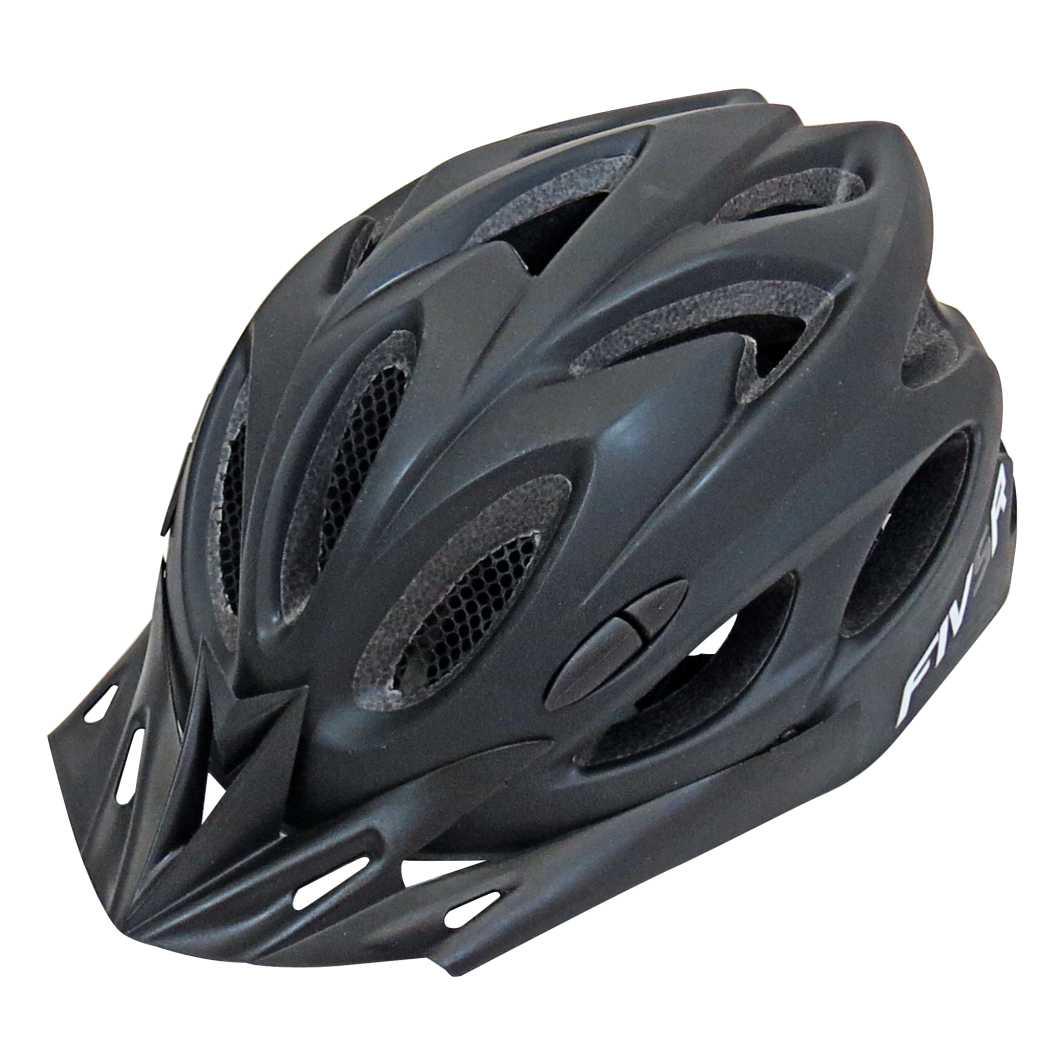 Capacete P/Ciclista FIVR V Preto Fosco Led