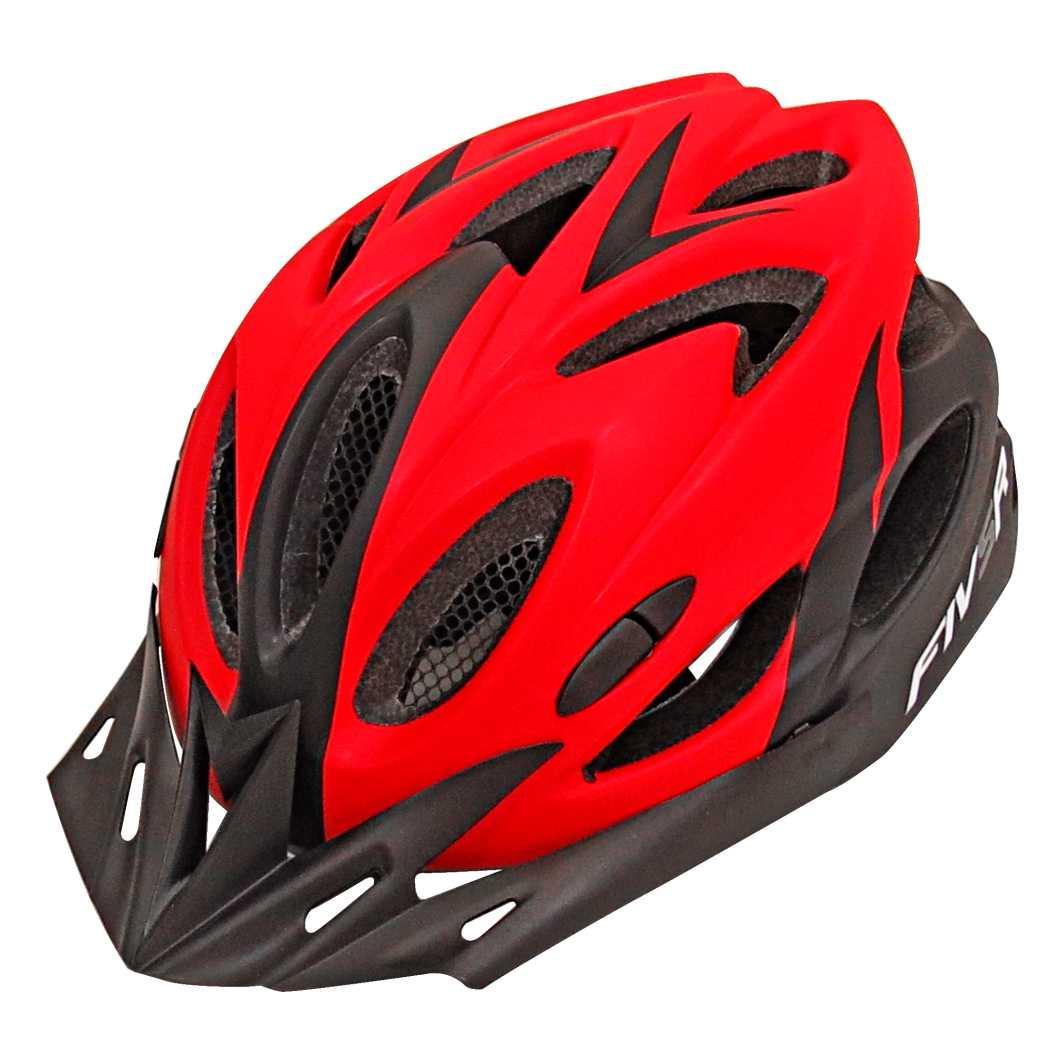 Capacete P/Ciclista FIVR V Preto Fosco/Vermelho Led